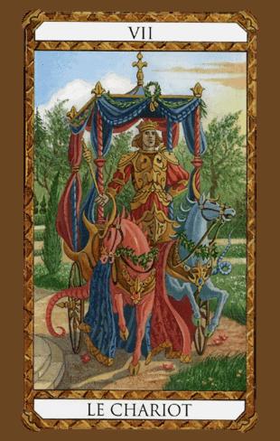 el carro arcanos mayores según el diseño del tarot ambre