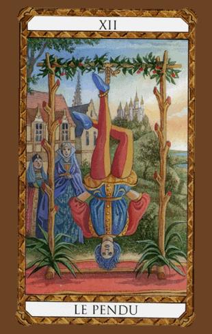 el colgado arcanos mayores según el diseño del tarot ambre