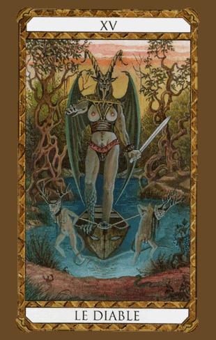 arcanos mayores el diablo según el diseño del tarot ambre