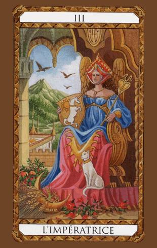 la emperatriz combinaciones según el diseño del tarot ambre