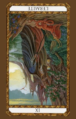 el ermitaño tarot ambre invertida