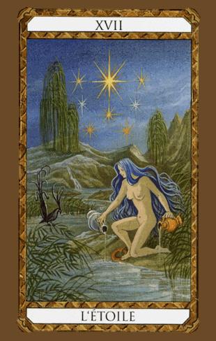 la estrella combinaciones según el diseño del tarot ambre