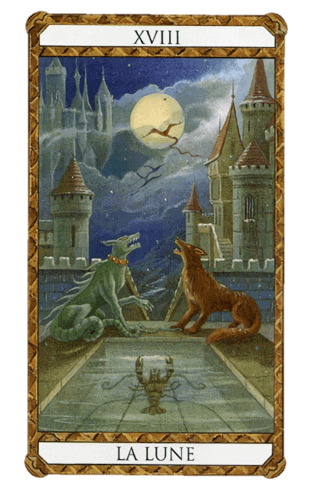 la luna combinaciones según el diseño del Tarot Ambre