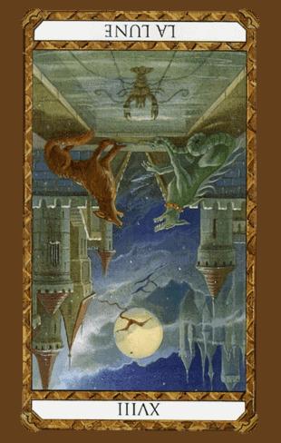 la luna tarot invertida