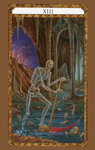 la muerte combinaciones según el diseño del Tarot Ambre