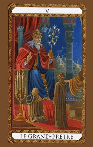 el papa arcanos mayores según el diseño del tarot ambre