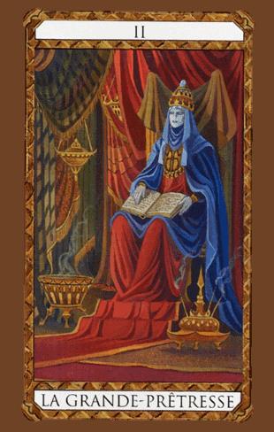 arcanos mayores la papisa según el diseño del tarot ambre