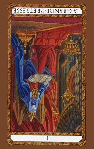 Arcano Mayor nº II La Sacerdotisa o Papisa TarotAmbre Invertido