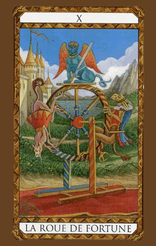 la rueda de la fortuna combinaciones según el diseño del Tarot Ambre