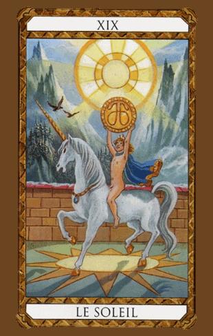 el sol combinaciones según el diseño del Tarot Ambre