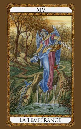 la templanza arcanos mayores según el diseño del tarot ambre