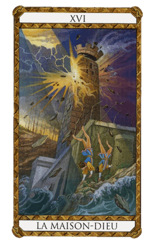 la torre combinaciones según el diseño del tarot ambre