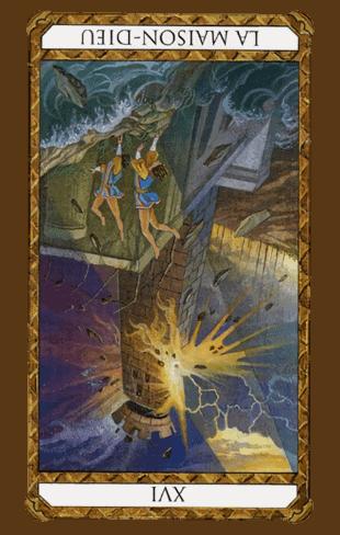 la torre tarot ambre invertida