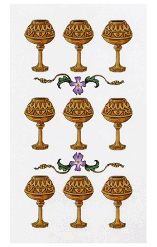 Nueve de copas en el tarot