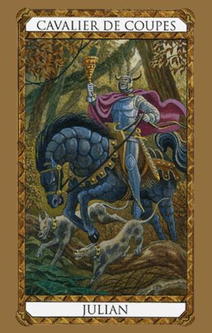 El Caballero de Copas Arcano Menor según el diseño del Tarot Ambre