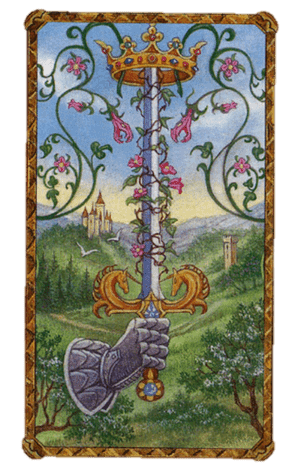 arcanos menores as de espadas según el diseño del tarot ambre