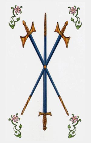 tres de espadas arcanos menores según tarot ambre