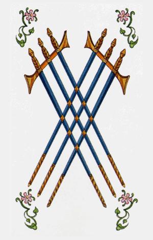 seis de espadas arcanos menores según tarot ambre