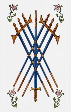 siete de espadas arcanos menores según tarot ambre