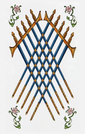 diez de espadas arcanos menores según tarot ambre