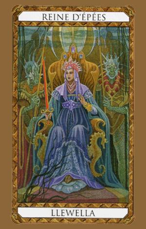 arcanos menores reina de espadas según el diseño del tarot ambre