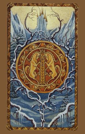 El As de Oros Arcano Menor según el diseño del Tarot Ambre