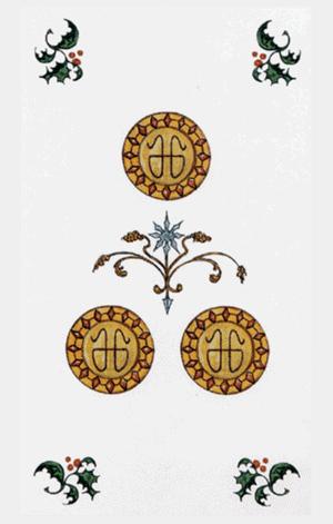 tres de oros arcanos menores según tarot ambre