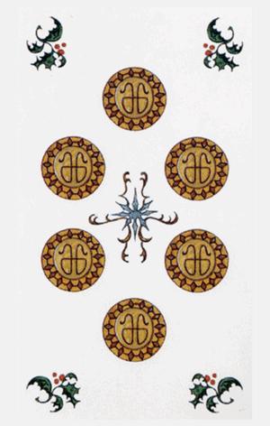 seis de oros arcanos menores según tarot ambre