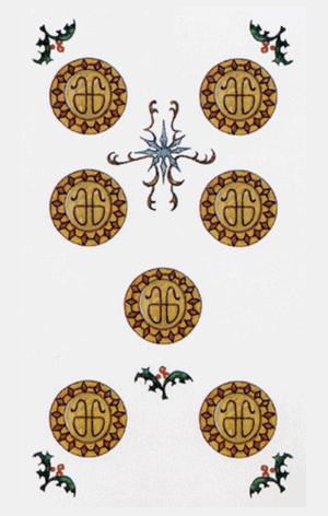 El Siete de Oros Arcano Menor según el diseño del Tarot Ambre