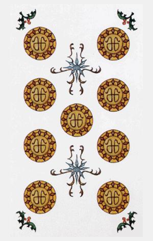 nueve de oros arcanos menores según tarot ambre
