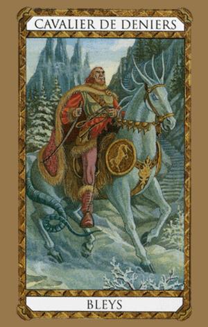 El Caballero de Oros Arcano Menor según el diseño del Tarot Ambre