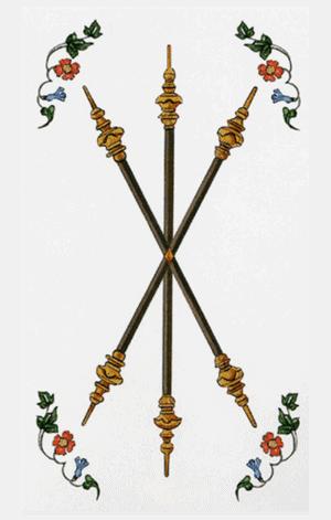 tres de bastos arcanos menores según tarot ambre