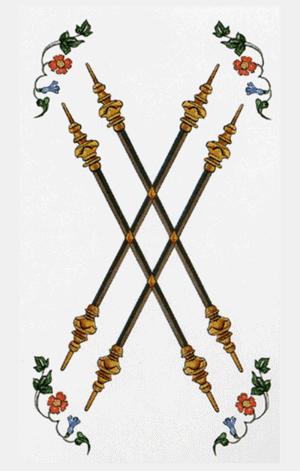 cuatro de bastos arcanos menores según tarot ambre