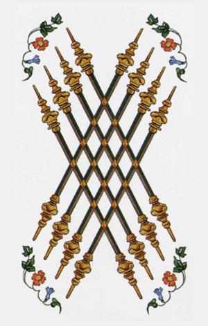 ocho de bastos arcanos menores según tarot ambre